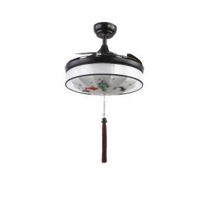 LEDシーリングファンライト リビング照明 ダイニング照明 照明器具 和室和風 2階段調色 LED対応 リモコン付 QM8055