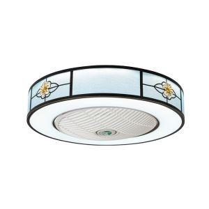 LEDシーリングファンライト リビング照明 ダイニング照明 照明器具 寝室 書斎 店舗 8畳10畳 3階段調色 リモコン付 LED対応 QM8034