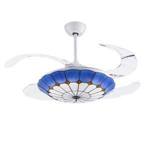 LEDシーリングファンライト リビング照明 ダイニング照明 照明器具 天井照明 3階段調色 LED対応 リモコン付 QM8027