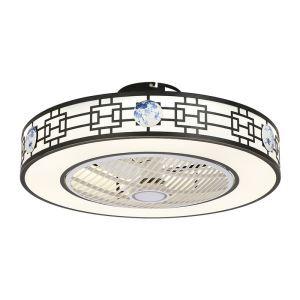 LEDシーリングファンライト リビング照明 ダイニング照明 照明器具 寝室 書斎 店舗 8畳10畳 3階段調色 リモコン付 LED対応 QM8029