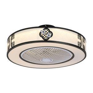 LEDシーリングファンライト リビング照明 ダイニング照明 照明器具 寝室 書斎 店舗 8畳10畳 3階段調色 リモコン付 LED対応 QM8030