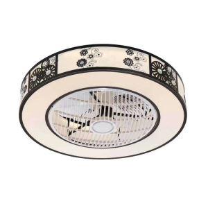 LEDシーリングファンライト リビング照明 ダイニング照明 照明器具 寝室 書斎 店舗 8畳10畳 3階段調色 リモコン付 LED対応 QM8032