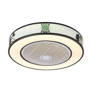 LEDシーリングファンライト リビング照明 ダイニング照明 照明器具 寝室 書斎 店舗 8畳10畳 3階段調色 リモコン付 LED対応 QM8033