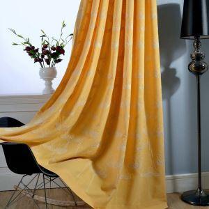 遮光カーテン オーダーカーテン 刺繍 花柄 オシャレ 7色(1枚)