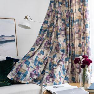 遮光カーテン オーダーカーテン 捺染 花瓶柄 子供屋 北欧風 オシャレ 3級遮光カーテン(1枚)