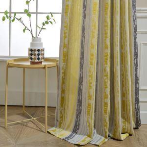 遮光カーテン オーダーカーテン ジャカード 縦縞柄 リビング 寝室 北欧風(1枚)