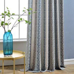 遮光カーテン オーダーカーテン ジャカード 菱形柄 リビング 寝室 北欧風(1枚)