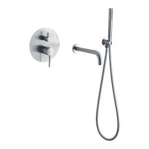 浴槽水栓 壁付蛇口 シャワー混合栓 バス水栓 ハンドシャワー付 水道蛇口 浴室水栓 4色