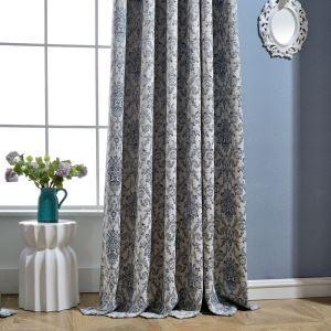 遮光カーテン オーダーカーテン ジャカード 高密度 厚地 花柄 リビング 寝室 豪華 北欧風(1枚)