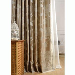 遮光カーテン オーダーカーテン 高密度 牡丹柄 2色 リビング 寝室 豪華 北欧風(1枚)