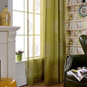 遮光カーテン オーダーカーテン 刺繍 コンパス柄 リビング 寝室 北欧風 オシャレ 3級遮光カーテン(1枚)