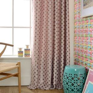 遮光カーテン オーダーカーテン ジャカード ドット柄 断熱 リビング 寝室 子供屋 オシャレ 1級遮光カーテン(1枚)