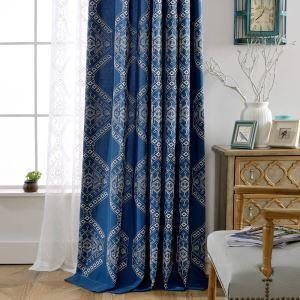 遮光カーテン オーダーカーテン 刺繍 幾何柄 寝室 リビング 北欧風 豪華(1枚)