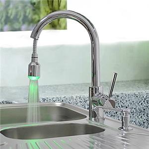 LEDキッチン蛇口 台所蛇口 引出し式水栓 クロム