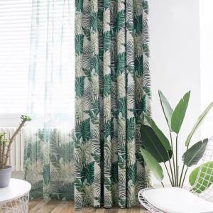 遮光カーテン オーダーカーテン 捺染 寝室用 葉柄 オシャレ(1枚)