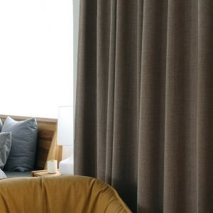 遮光カーテン オーダーカーテン 寝室 リビング 純色 現代(1枚)