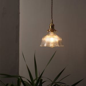 ペンダントライト リビング照明 ダイニング照明 寝室照明 玄関照明 ガラス 6畳8畳 エレガント ラッパ型 1灯 LZ117