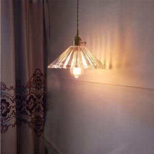 ペンダントライト 照明器具 リビング ダイニング 寝室 書斎 玄関 廊下 店舗 ガラス 6畳8畳 エレガント 傘型 つまみスイッチ付 1灯 LZ105