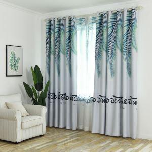遮光カーテン オーダーカーテン 捺染 植物柄 リビング 寝室 北欧風 オシャレ(1枚)