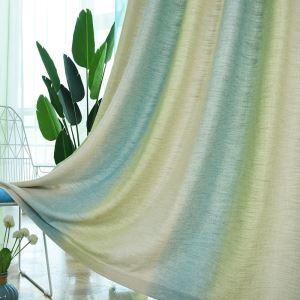 遮光カーテン オーダーカーテン 捺染 グラデーション柄 緑 寝室 リビング 北欧風 オシャレ(1枚)