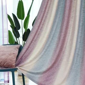 遮光カーテン オーダーカーテン 捺染 グラデーション柄 紫 寝室 リビング 北欧風 オシャレ(1枚)