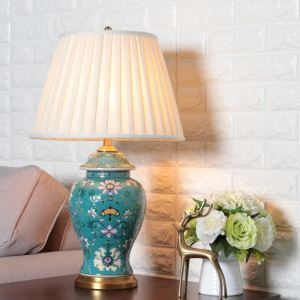 テーブルランプ スタンドライト 間接照明 デスクライト 陶器照明 リビング 寝室 書斎 玄関 オシャレ 1灯 HY065