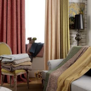 遮光カーテン オーダーカーテン 綿麻 リビング 寝室 北欧風 和風 3級遮光カーテン(1枚)