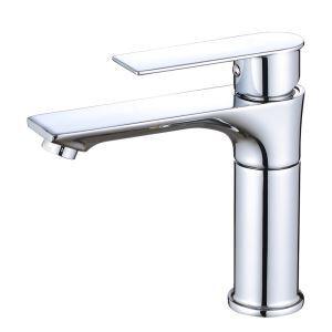 洗面蛇口 バス水栓 冷熱混合栓 立水栓 高さ調節 クロム