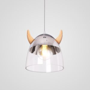 ペンダントライト 照明器具 リビング照明 ダイニング照明 子供屋照明 玄関 食卓 牛の角型 ガラス オシャレ LB941075