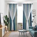 遮光カーテン カーテンレースセット シアーカーテン付 透かし彫り 星 寝室 オシャレ(1枚)