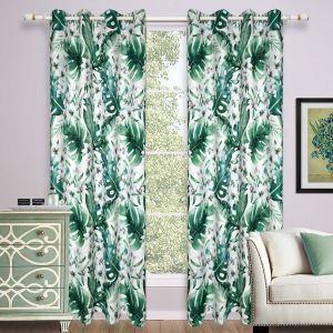 遮光カーテン 既製カーテン 子供屋 捺染 葉柄 北欧風 オシャレ お得サイズ 3級遮光カーテン(1枚)