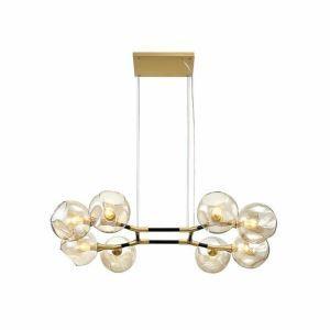 ペンダントライト 照明器具 リビング照明 店舗照明 寝室照明 天井照明 北欧風 琥珀色 8灯 LB18702