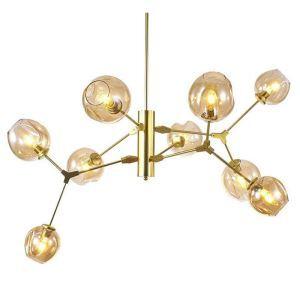 シャンデリア リビング照明 ダイニング 寝室 店舗 北欧風 魔豆型 3色 9灯