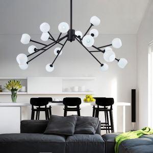 LEDシャンデリア リビング照明 ダイニング 寝室 北欧風 枝型 18灯 LED対応