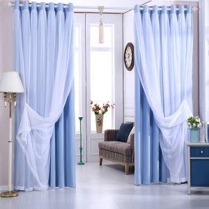 遮光カーテン カーテンレースセット シアーカーテン付 既製 遮熱 防炎 オシャレ 5色 お得サイズ 1級遮光(1枚)