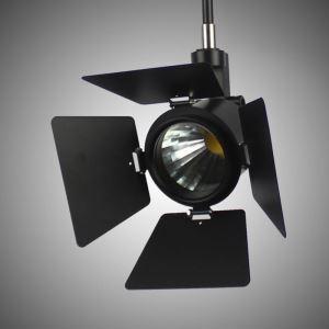 LEDスポットライト ダクトレール用照明 照明器具 店舗照明 玄関照明 LED対応 カメラ型 黒色 簡単取付