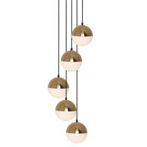 ペンダントライト 照明器具 リビング照明 吹き抜け照明 店舗照明 北欧風 半球型 5灯 MDD1755