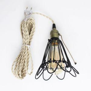 ペンダントライト 照明器具 ダイニング照明 玄関照明 田舎風 鳥カゴ型 コンセント付 1灯 MDD131