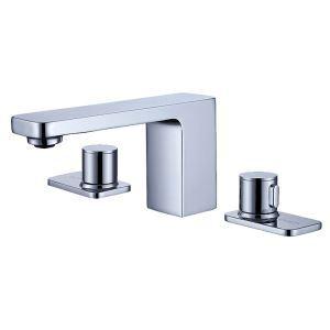 洗面水栓 バス蛇口 冷熱混合栓 水道蛇口 2ハンドル 真鍮 2色