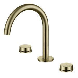 洗面水栓 バス蛇口 冷熱混合栓 水道蛇口 2ハンドル 真鍮 3色
