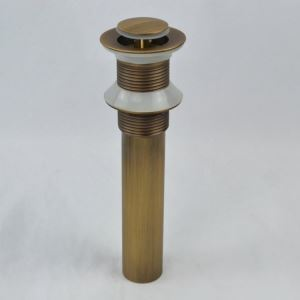 横穴無し排水金具 排水ドレイン プッシュ式 ドレンユニット32mm ブラス色 1018LK0929