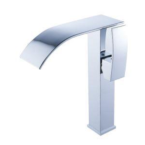 洗面蛇口 バス水栓 冷熱混合栓 水道蛇口 立水栓 滝状吐水式 クロム