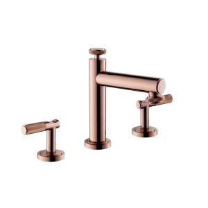 洗面蛇口 バス水栓 冷熱混合栓 立水栓 水道蛇口 水栓金具 2ハンドル オシャレ ローズゴールド