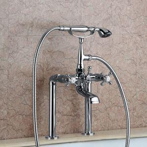 浴槽水栓 浴室水栓 シャワー混合水栓 ハンドシャワー付 水道蛇口 2色
