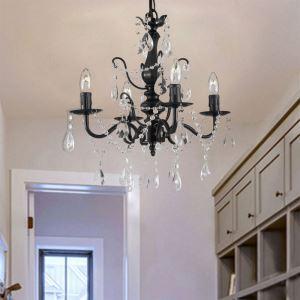 シャンデリア リビング照明 ダイニング照明 寝室照明 店舗照明 クリスタル付 北欧風 4灯 QM99064