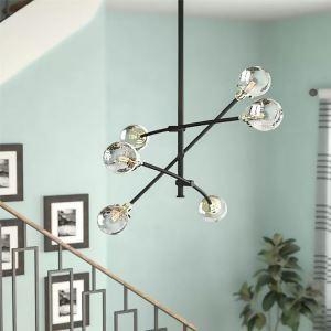 シャンデリア リビング照明 寝室照明 北欧風 分子型 6灯