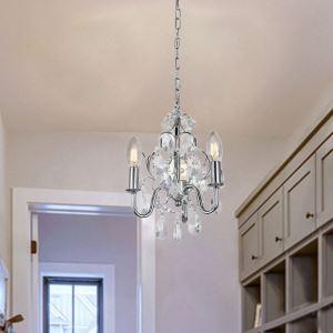 シャンデリア クリスタル リビング照明 ダイニング照明 寝室照明 北欧風 3灯 QM99075
