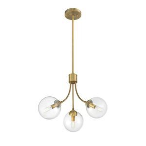 シャンデリア リビング照明 寝室照明 北欧風 枝型 金色 3灯