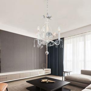 シャンデリア リビング照明 ダイニング照明 寝室照明 店舗照明 クリスタル 白色 北欧風 3灯 QM99283