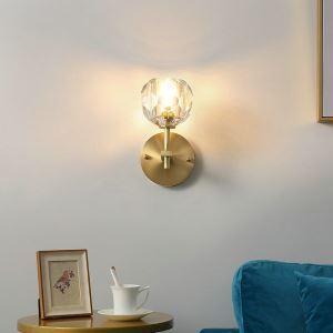 壁掛け照明 ウォールランプ ブラケットライト 玄関照明 間接照明 クリスタル付 1/2灯 QM60013